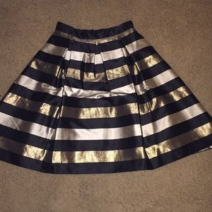 Eliza J Gold/Black/Silver striped Tulle Skirt